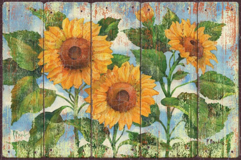 Art Print: Summer Sunflowers
