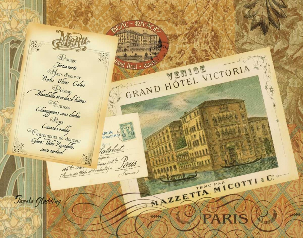 Wall art: Grand Hotel Paris, by Gladding, Pamela