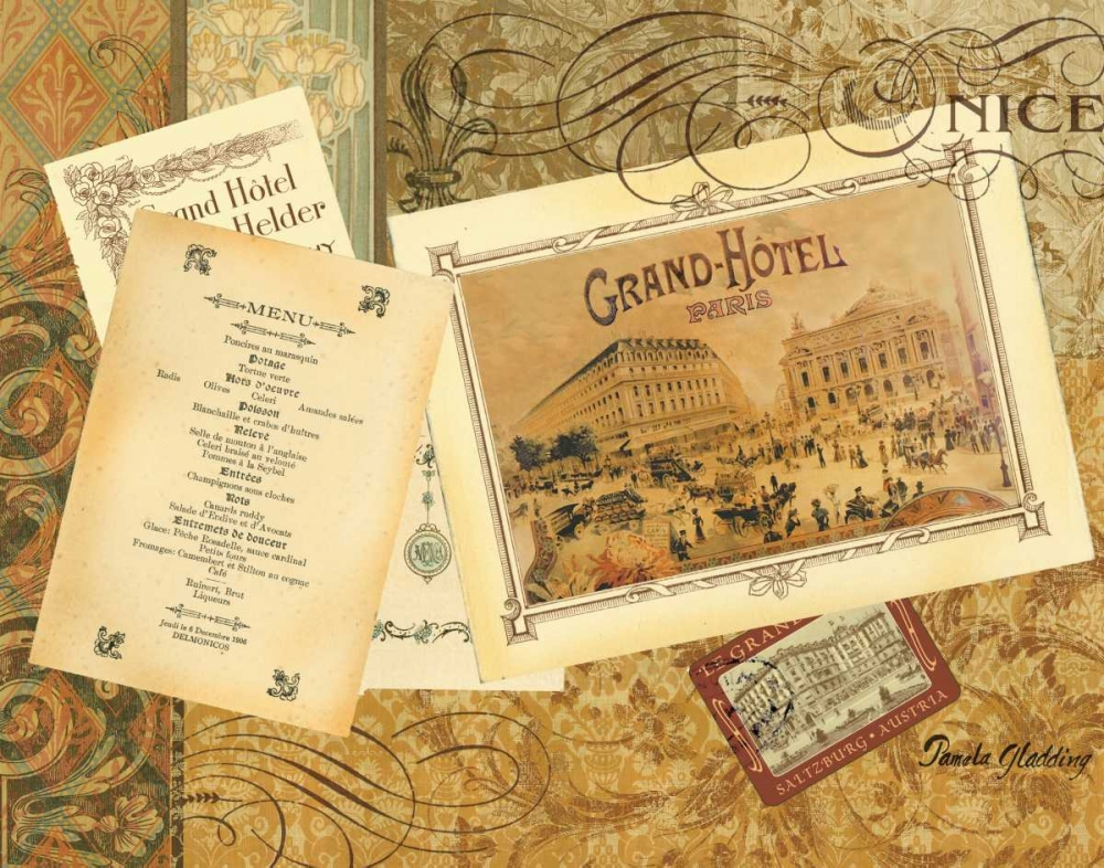 Wall art: Grand Hotel Nice, by Gladding, Pamela