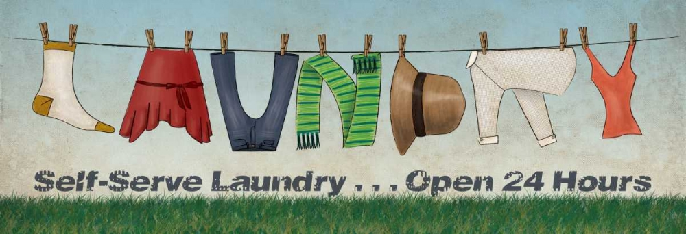 Wall art: Laundry, by Harbick, N