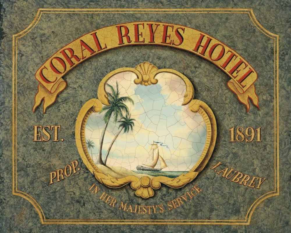 Wall art: Coral Reyes Hotel, by Jones, Catherine