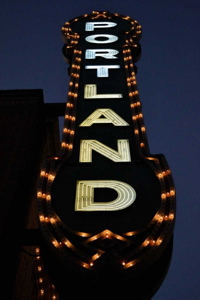 Wall art: Portland Sign, by Moore, Brian