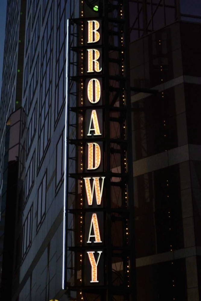 Wall art: Broadway Sign, by Moore, Brian