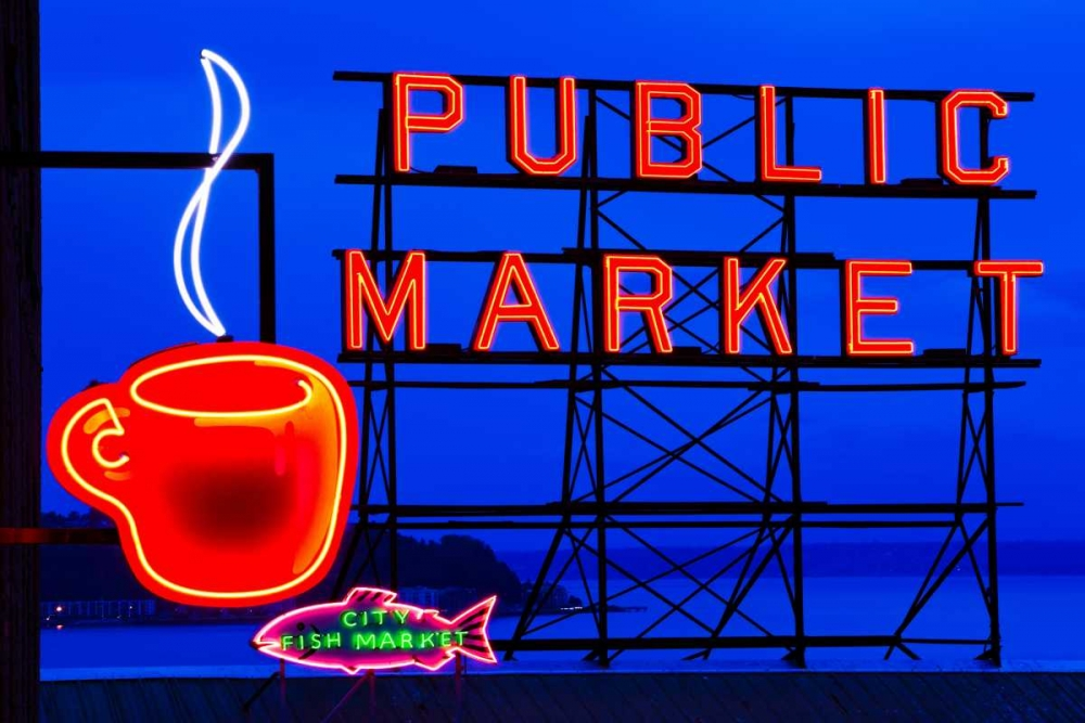 Wall art: Public Market Sign I, by Stefko, Bob