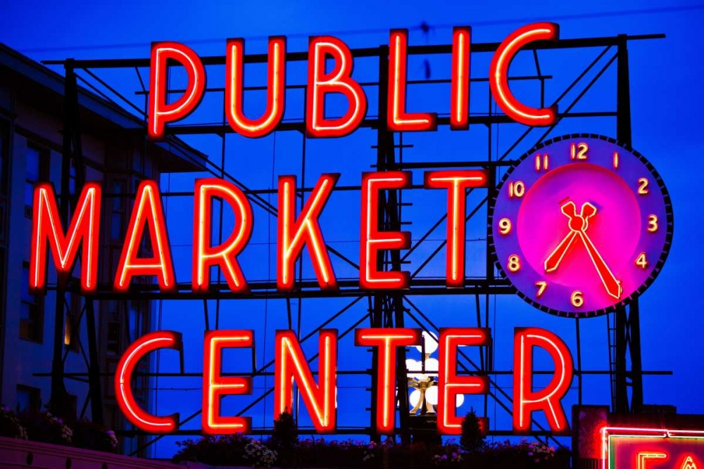 Wall art: Public Market Sign II, by Stefko, Bob