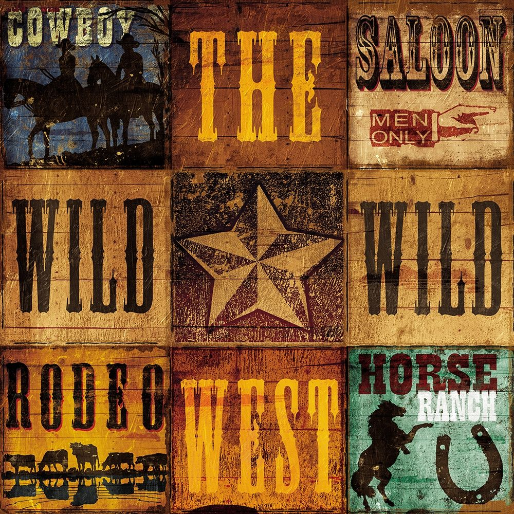 Wall art: Wild West Patch, by Grey, Jace