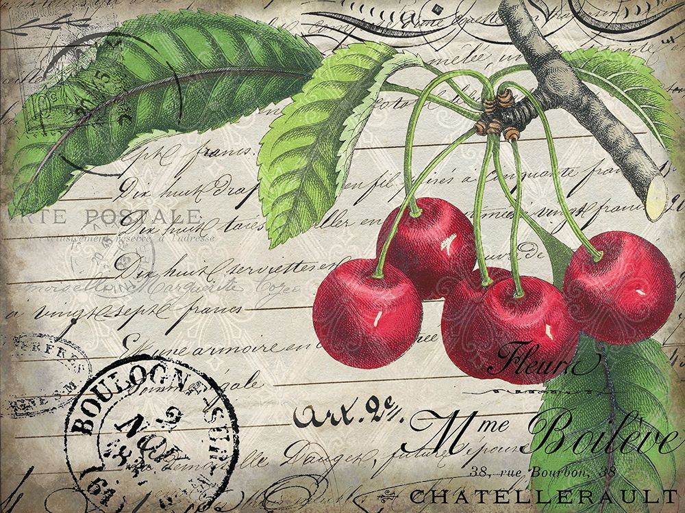 Wall art: Vintage Cherries, by Kimberly, Allen