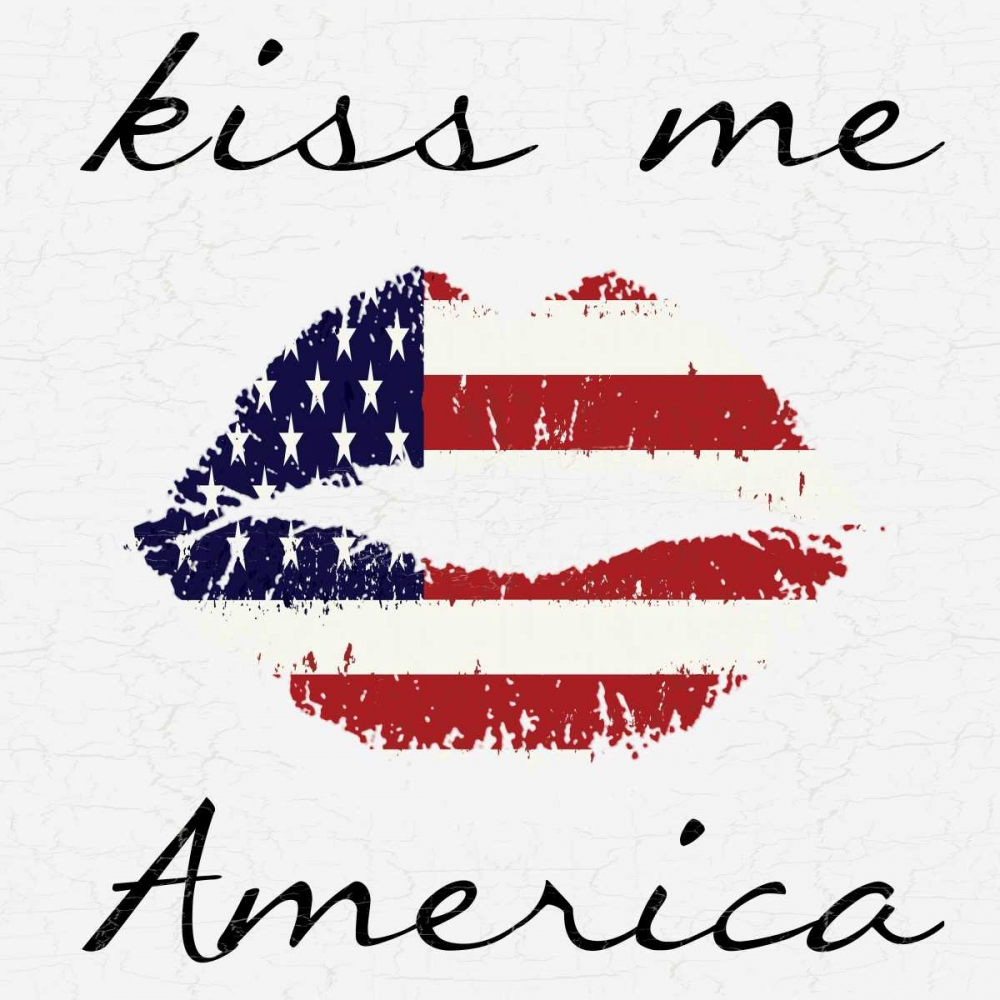 Wall art: Kiss Me America, by Lewis, Sheldon