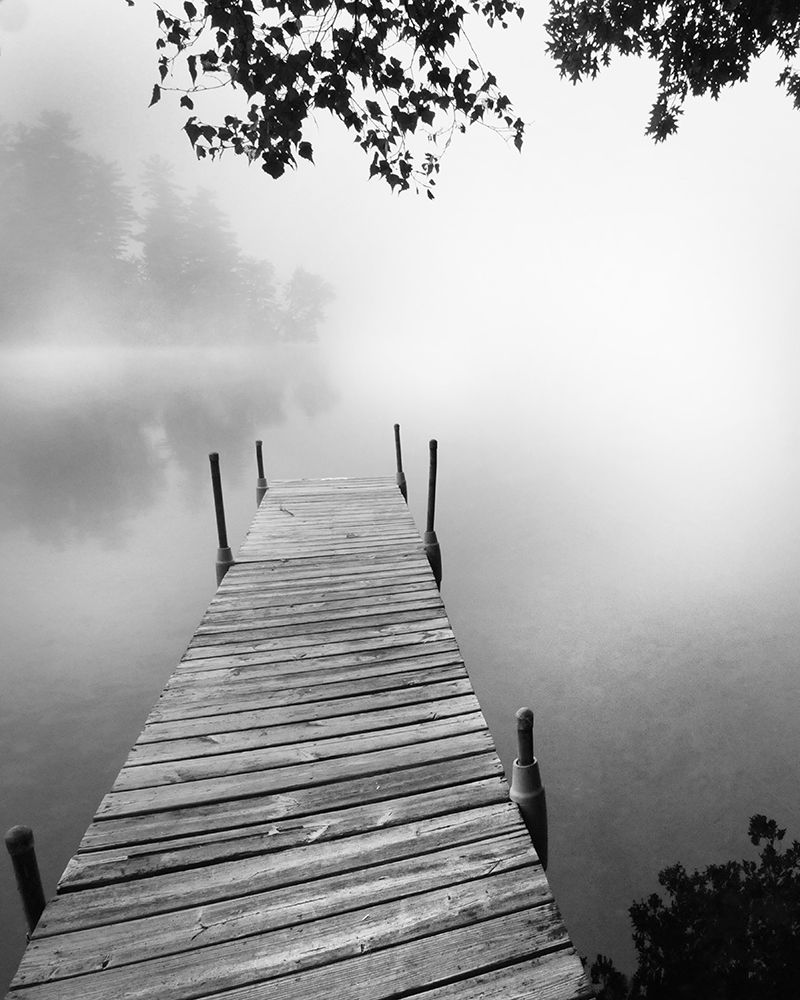 Wall art: Foggy Dock BW 1, by Foschino, Suzanne