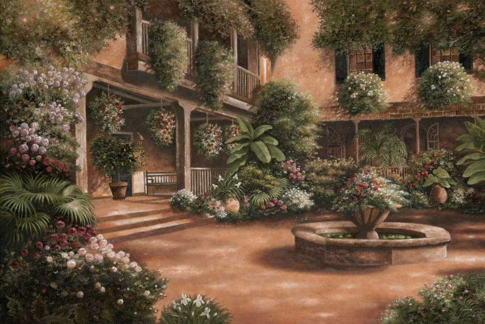 Wall art: French Quarter Courtyard II, by Brown, Betsy