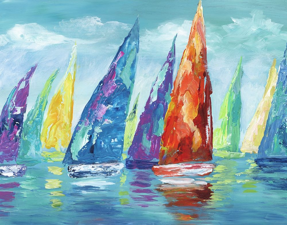 Wall art: Fine Day Sailing II, by Nan