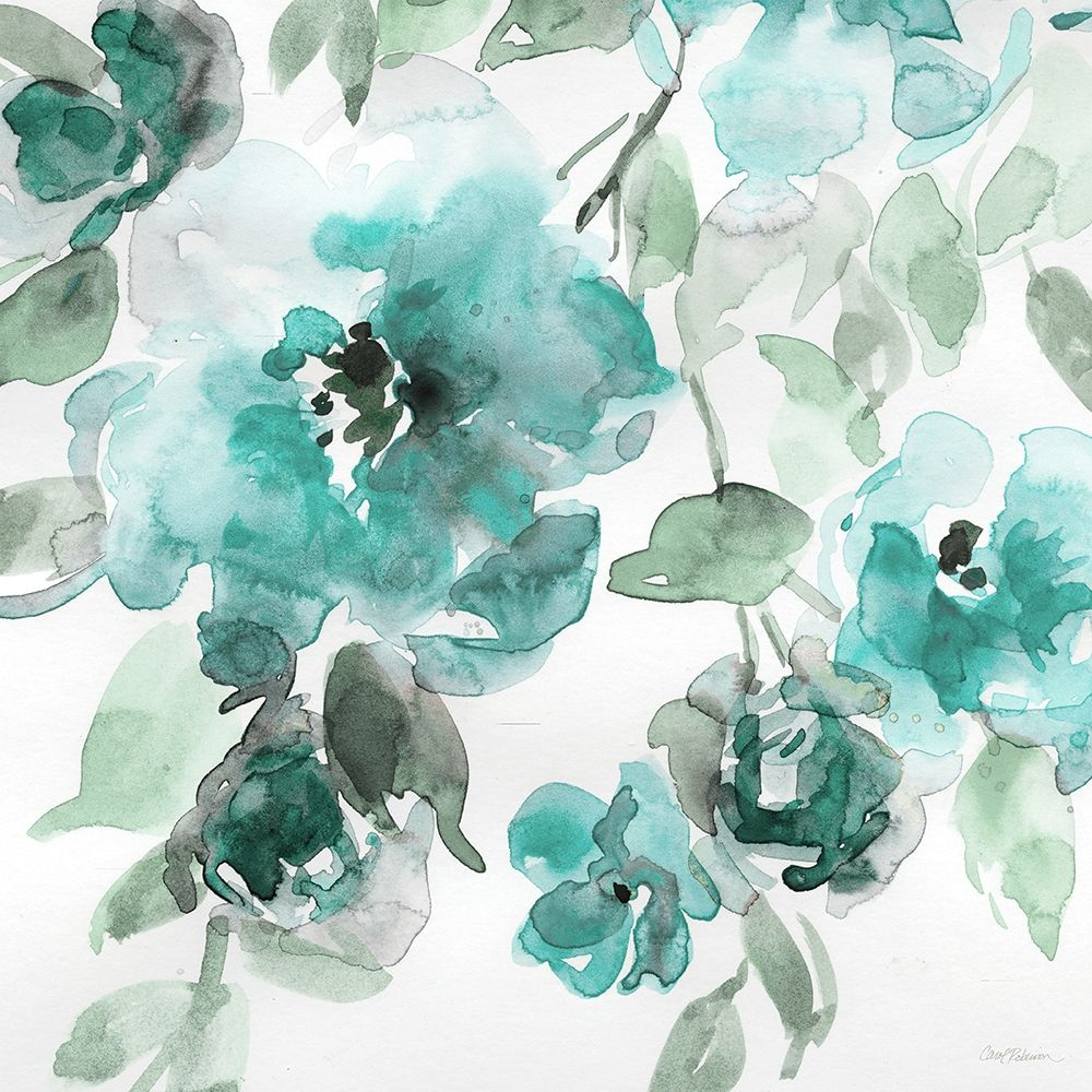 Wall art: Belles Teal I, by Robinson, Carol