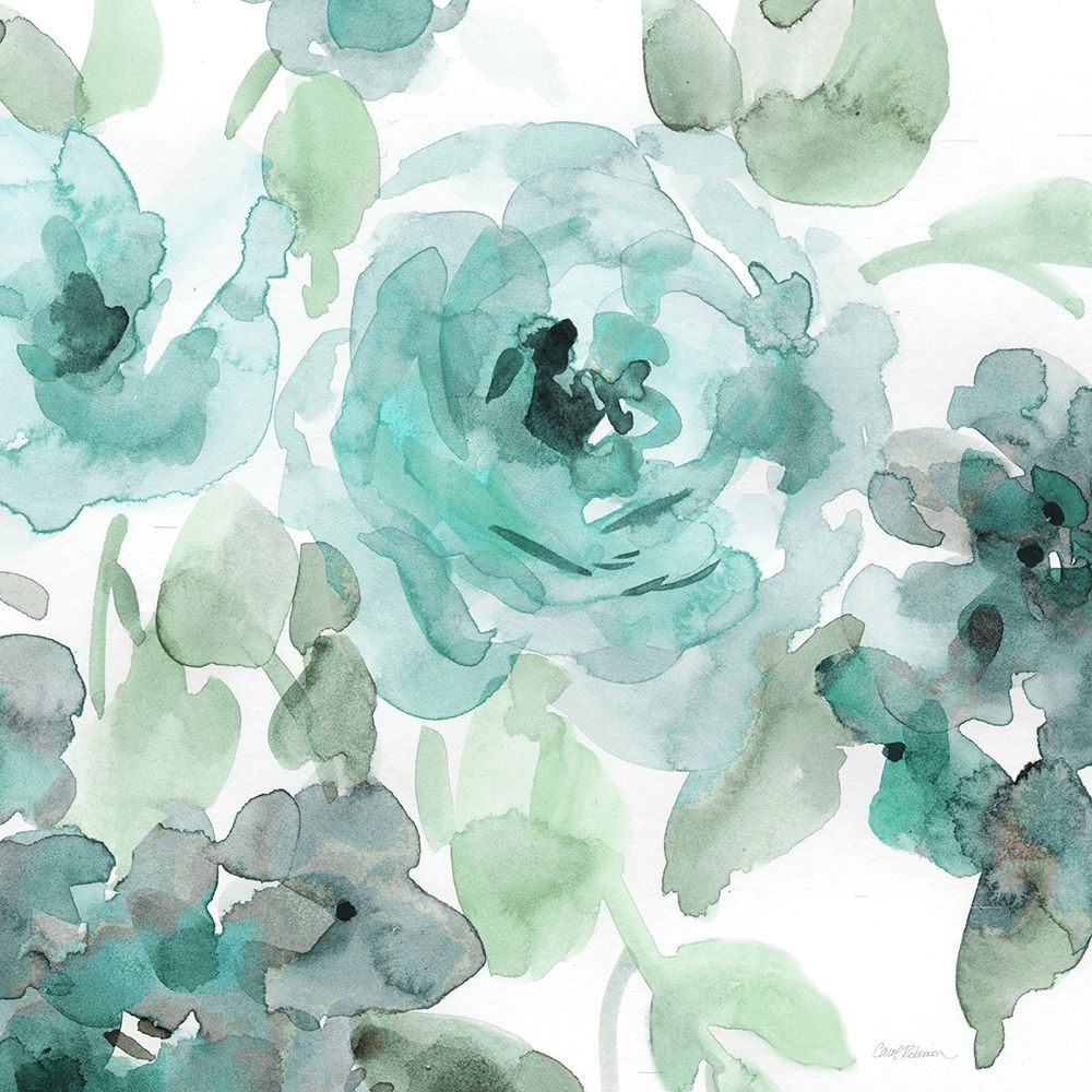 Wall art: Belles Teal II, by Robinson, Carol