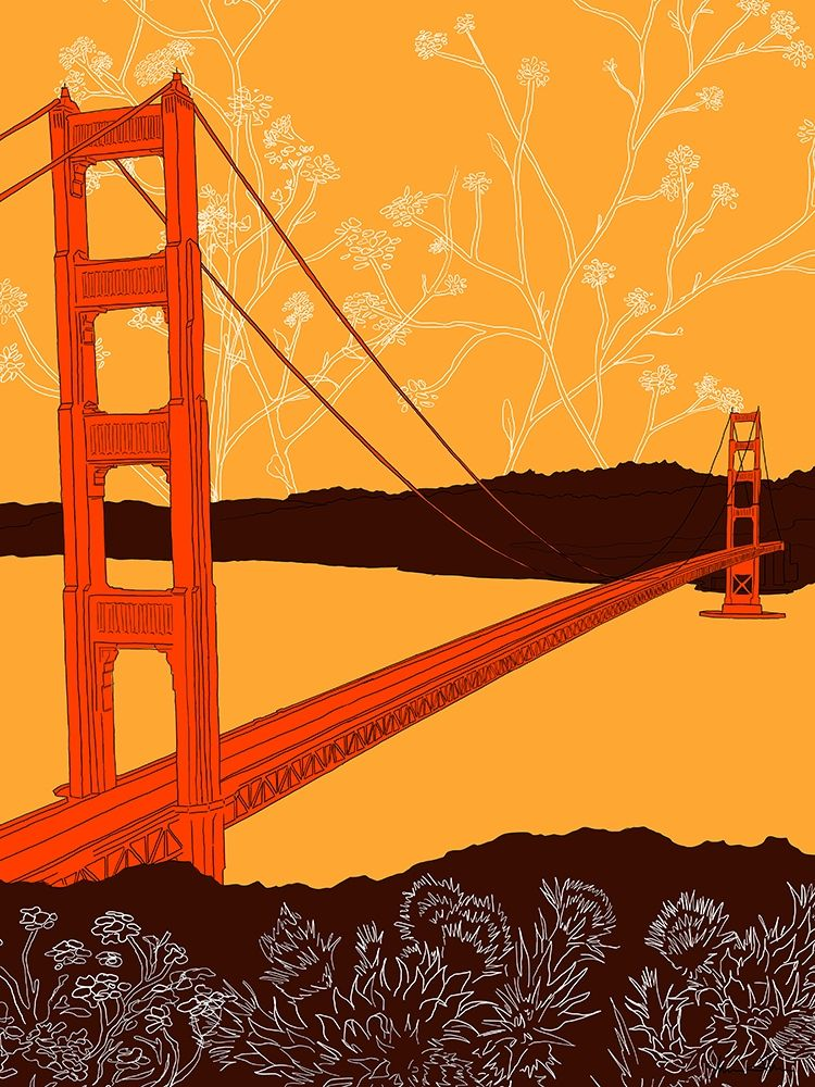 Wall art: Golden Gate Bridge - Headlands, by Donahue, Shane