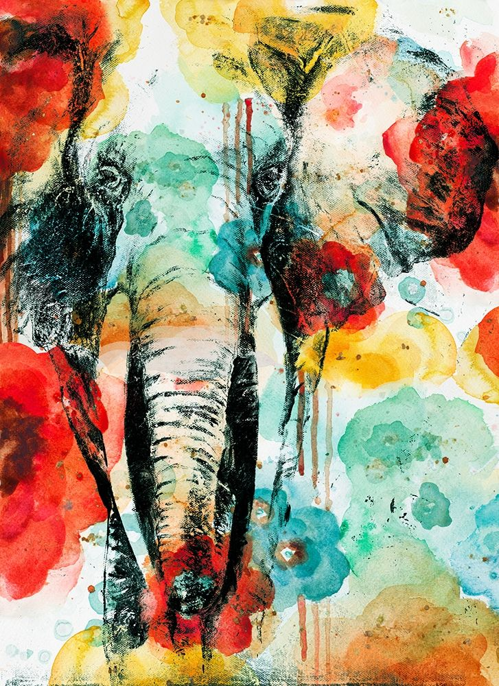 Wall art: Vibrant Elephant, by Pinto, Patricia