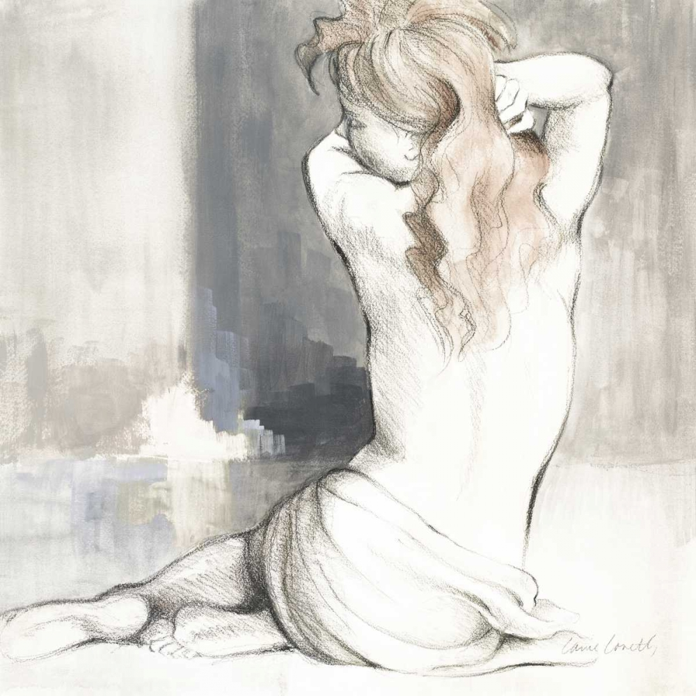 Wall art: Sketched Waking Woman I, by Loreth, Lanie