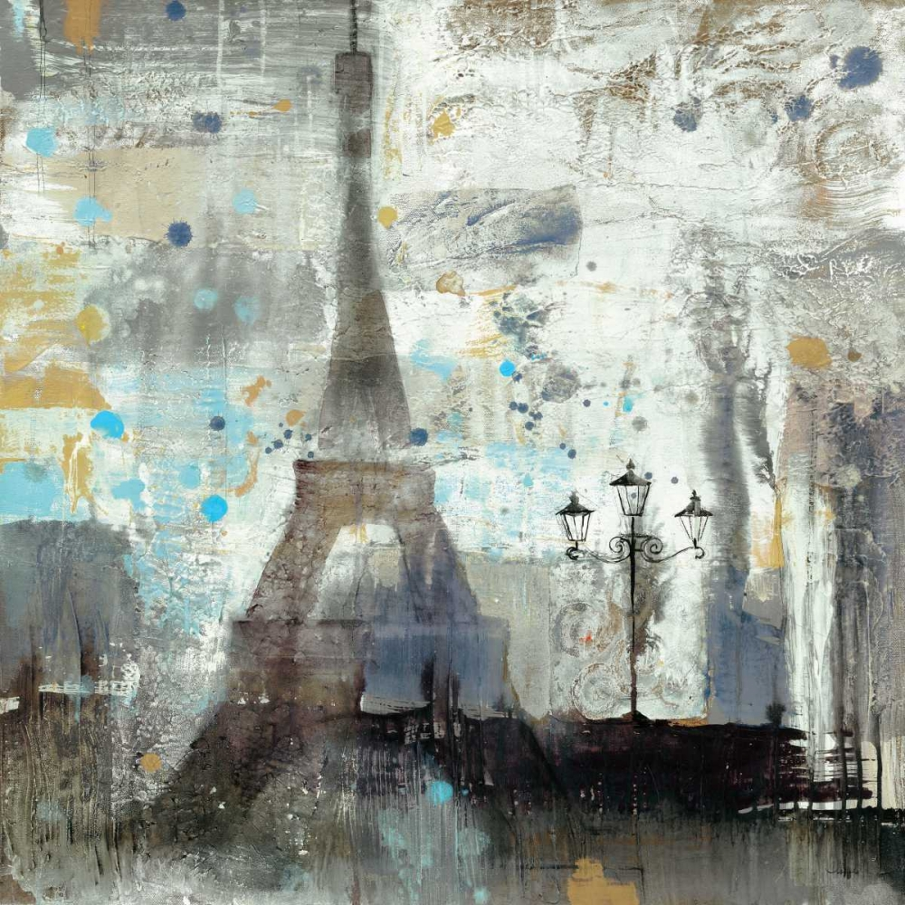 Wall art: Eiffel Tower Neutral, by Hristova, Albena