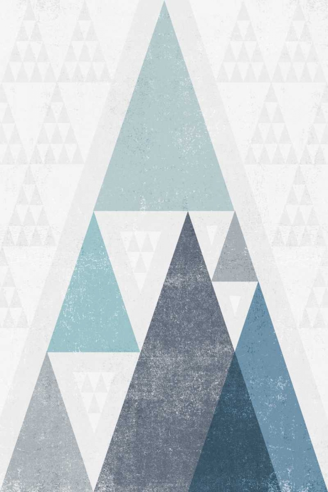 Art Print: Mod Triangles III Blue
