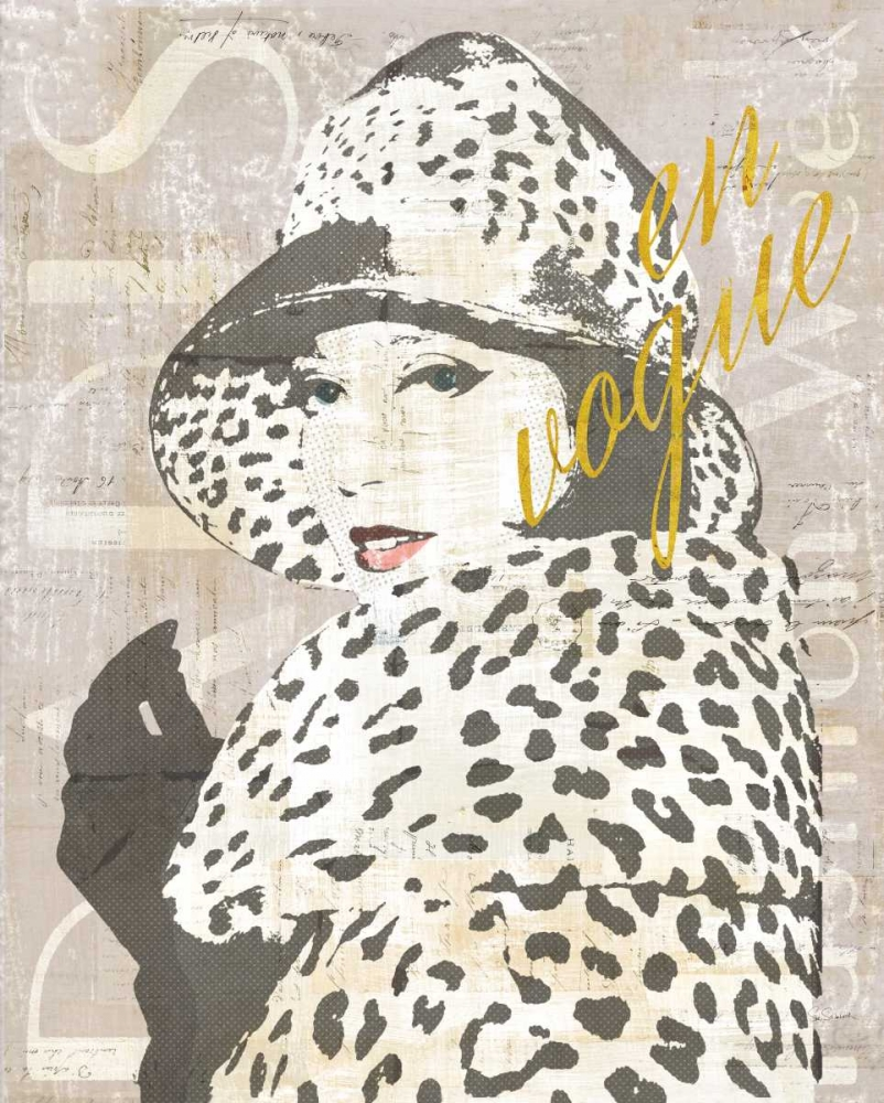 Wall art: Fashion Week Paris Halftone II, by Schlabach, Sue