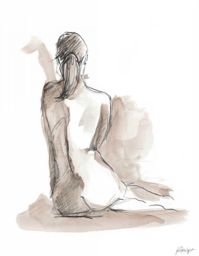 Wall art: Gestural Figure Study V, by Harper, Ethan