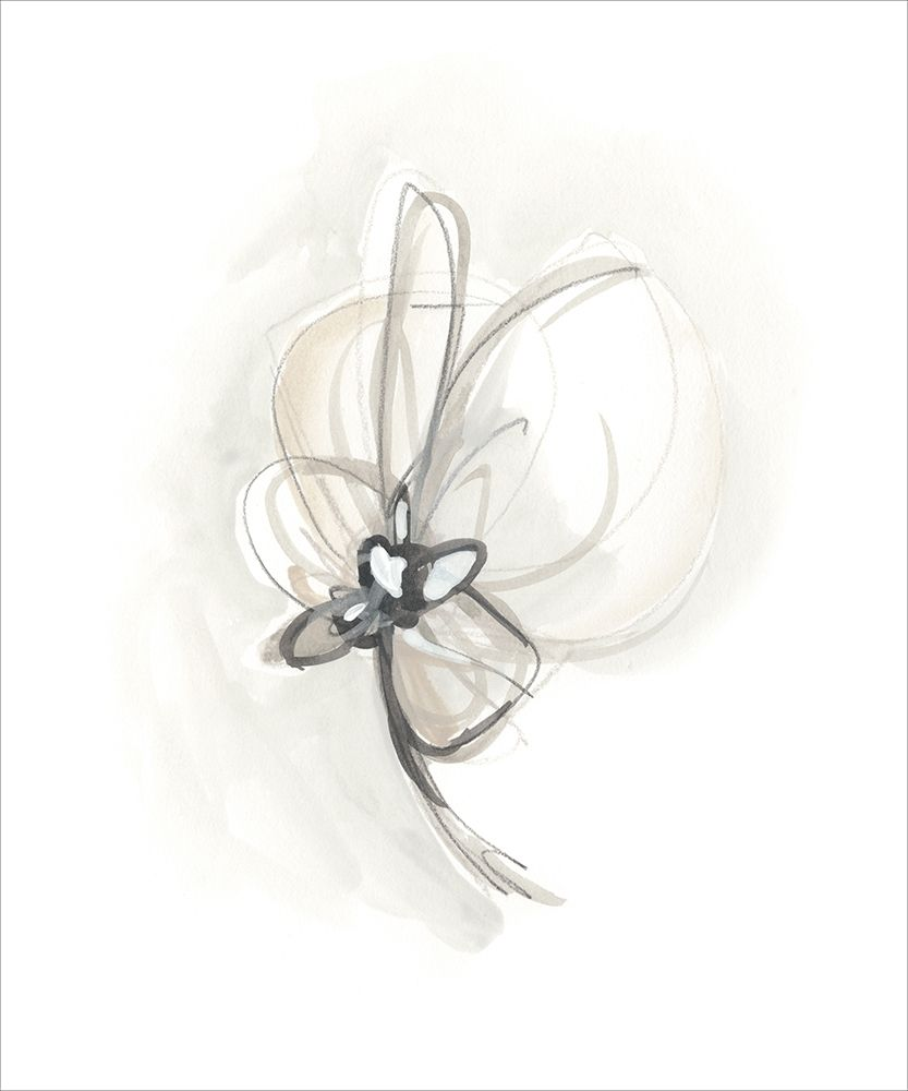 Wall art: Neutral Floral Gesture II, by Vess, June Erica