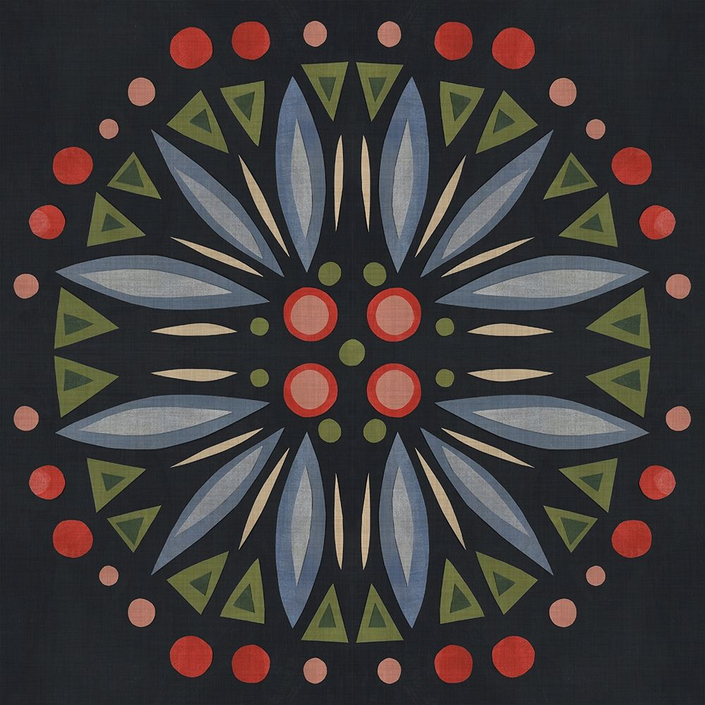 Wall art: Folk Mandala III, by Scarvey, Emma