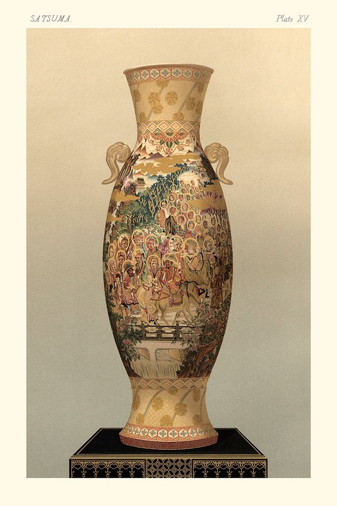 Wall art: Satsuma Vase Pl. XV, by Audsley, George