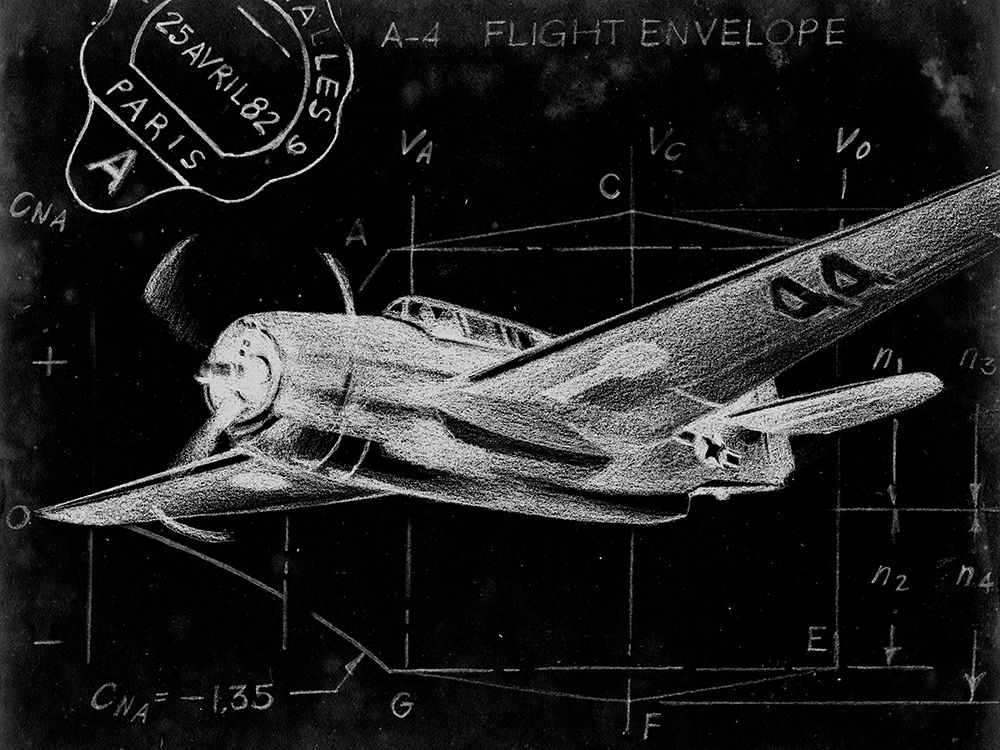 Wall art: Flight Schematic II, by Ethan Harper