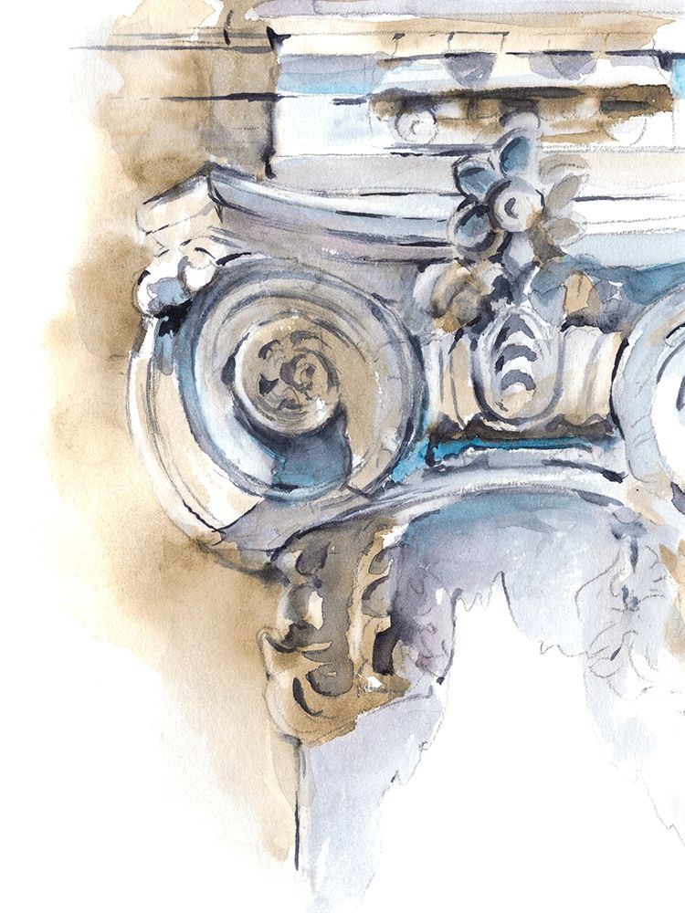 Wall art: Architectural Watercolor Sketch II, by Harper, Ethan