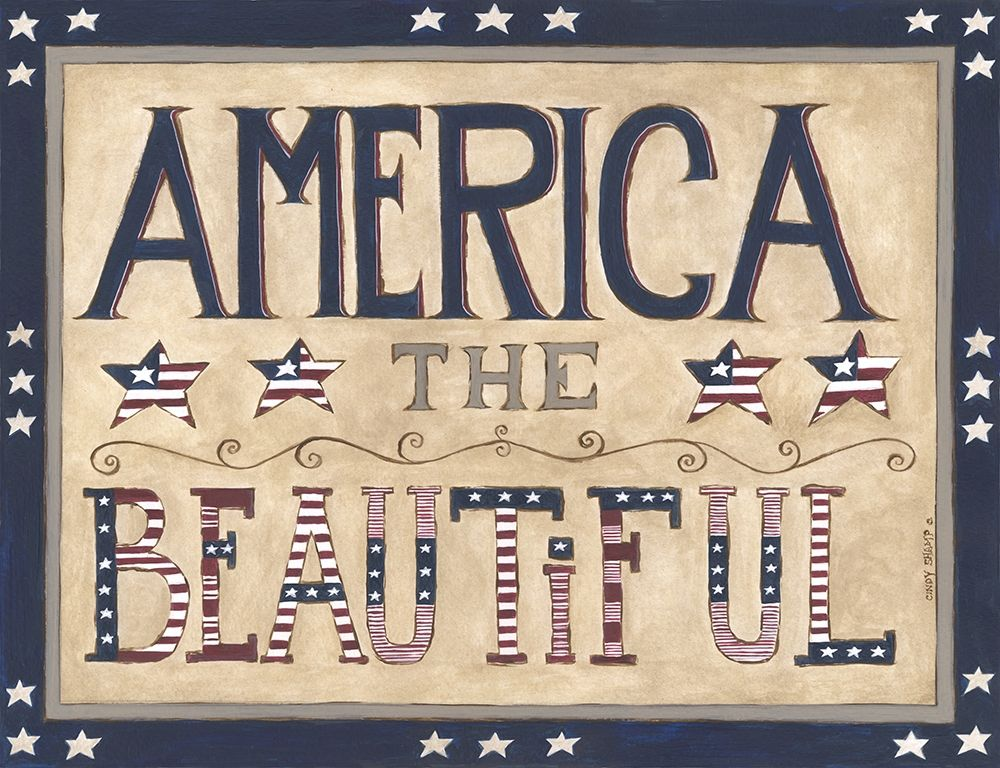 Wall art: America the Beautiful, by Shamp, Cindy