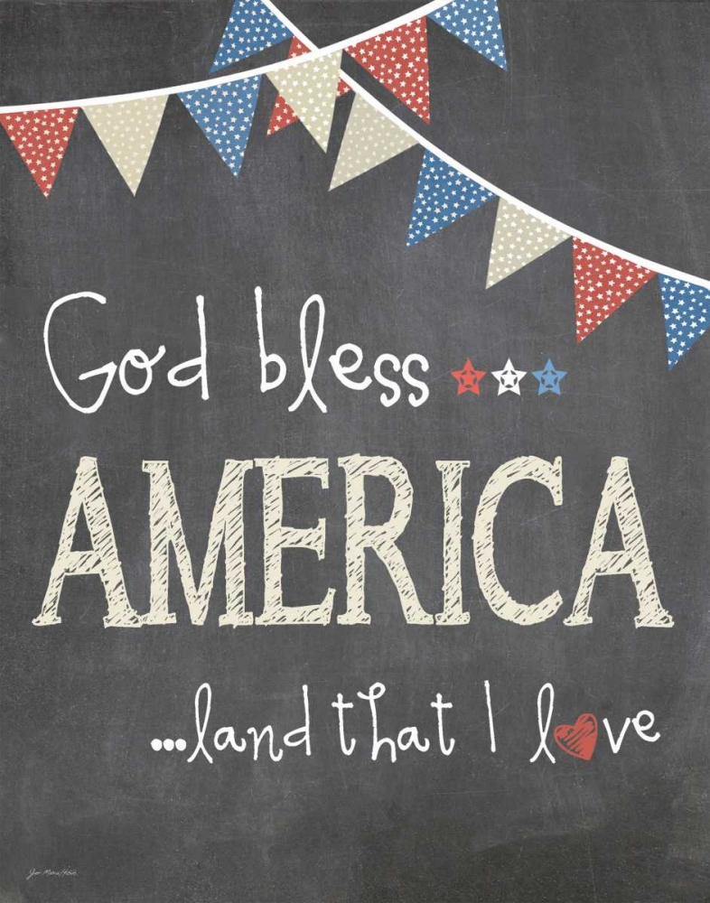 Wall art: God Bless America, by Moulton, Jo