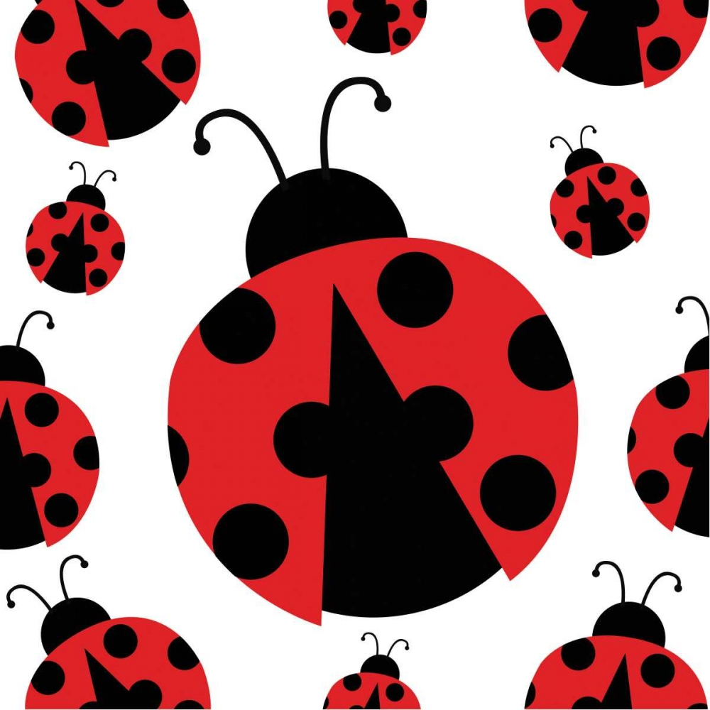 Wall art: Ladybug II, by ND Art and Design