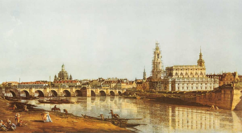 Wall art: Dresden, Elbufer, by Canaletto