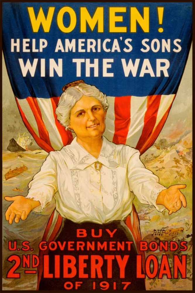 Wall art: Women! Help Americas Sons Win the War, by Unknown