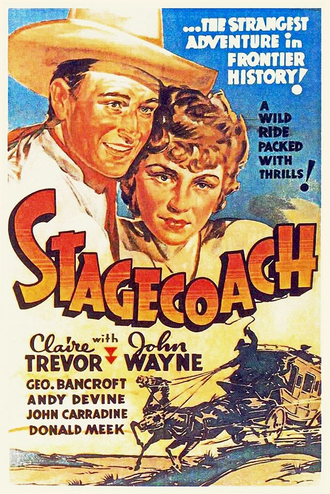 Art Print: Stage Coach - John Wayne and Claire Trevor