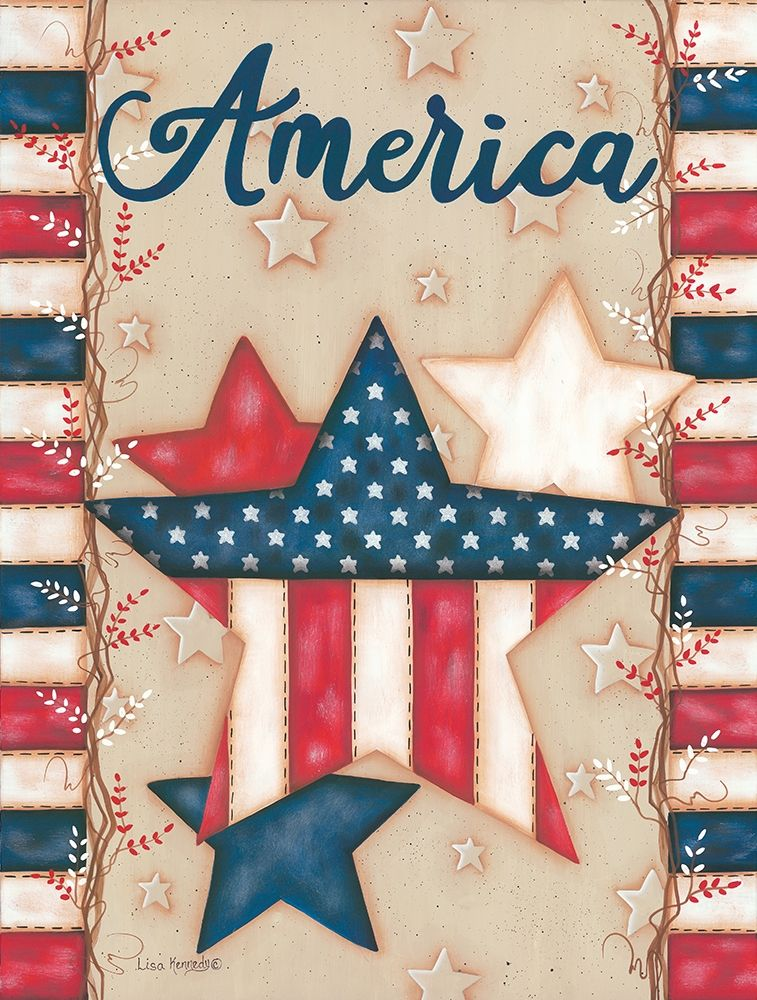 Wall art: America, by Kennedy, Lisa