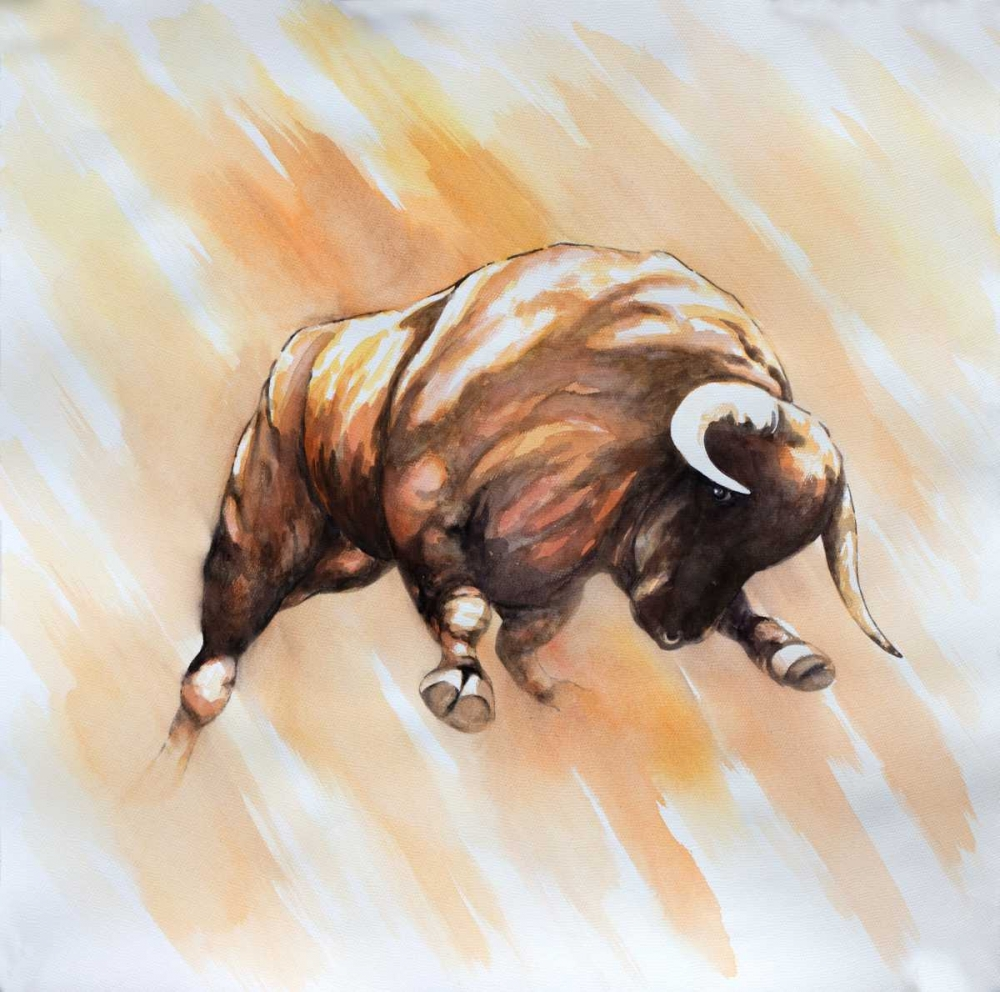 Wall art: Bull to Attack, by Atelier B Art Studio
