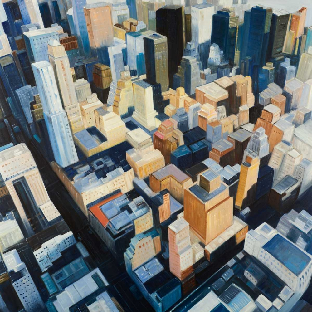 Wall art: Manhattan view of the Empire State Building, by Atelier B Art Studio