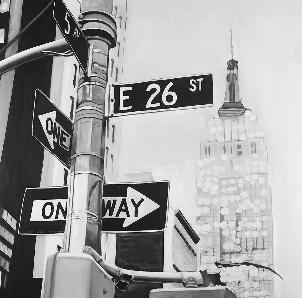 Wall art: New York City Street Signs, by Atelier B Art Studio