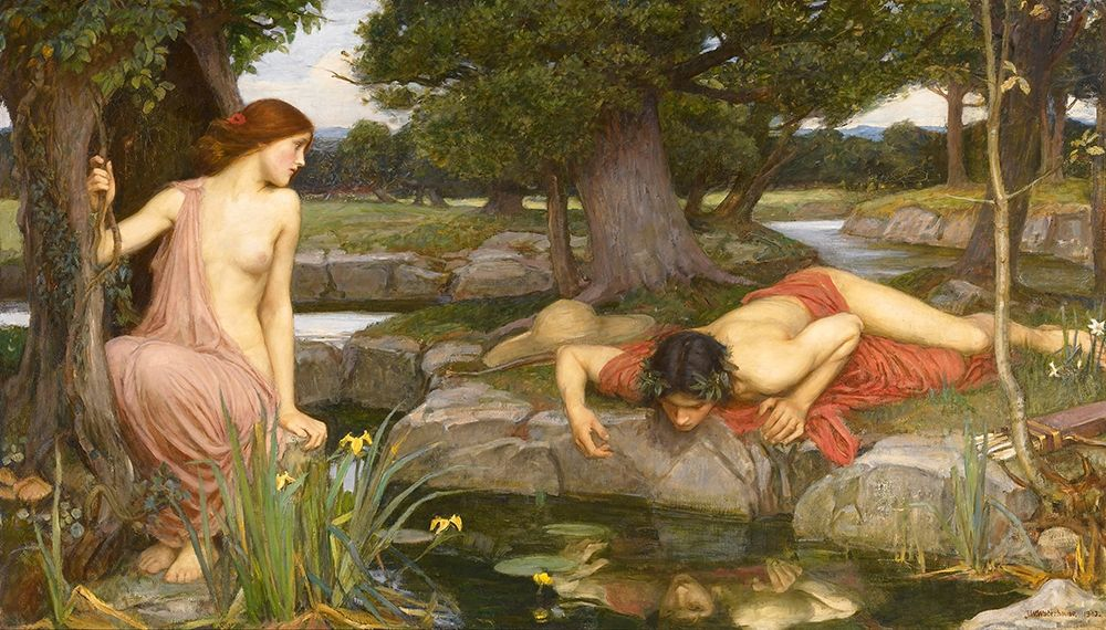 Art Print: Echo And Narcissus