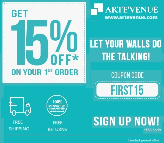 Arte'Venue: 15% off coupon