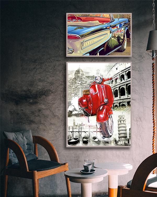 Art Prints of Automobile Paintings