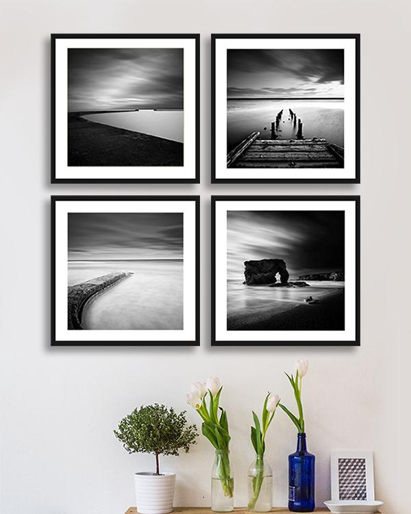 Art Print of Black and White Paintings